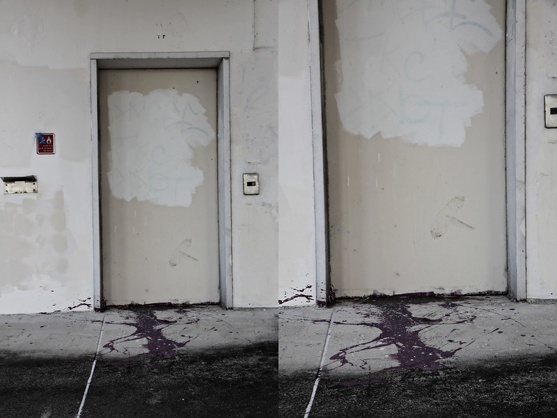 abandoned garage diptych 3