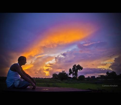 camera sunset sky india man nature painting evening nikon sitting tokina hues gaya bihar 1116 d7000 kirukan