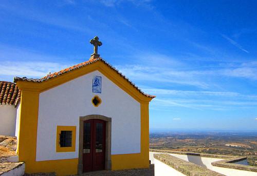sky yellow chapel