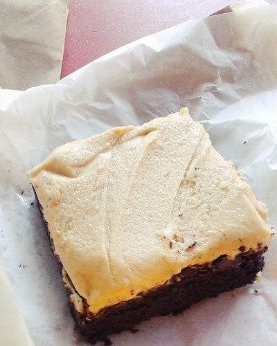 peanut butter brownies @ plain vanilla bakery