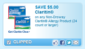Non-drowsy Claritin Allergy Product (24 Count Or Larger)  Coupon