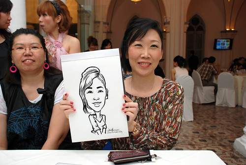 caricature live sketching for Intel Mobile Communications Year-End celebrations - 9