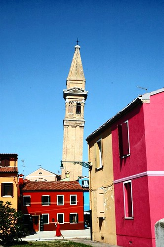 Leaning tower, Burano