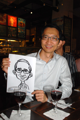 caricature live sketching for emc NUS - 8