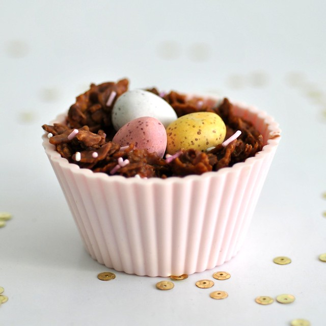 Gluten free chocolate nests