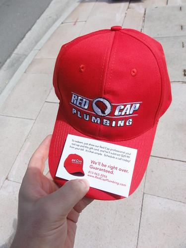 A Red Cap Plumbing red cap