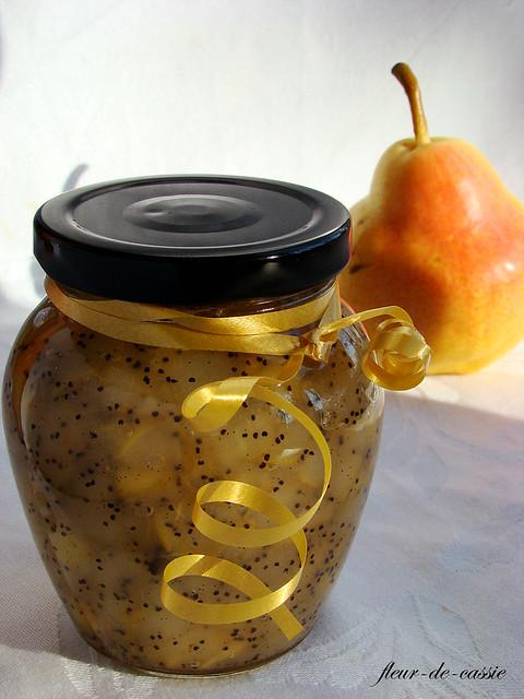 грушевое варенье с маком и ванилью 1