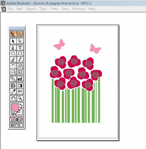 flower bunch - working in Adobe Illustrator