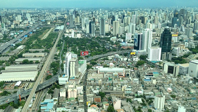 Airport Rail Link from Baiyoke Sky Hotel, Bangkok, Thailand