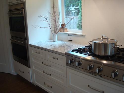 CC rangetop, Wolf ovens, KA warming drawer