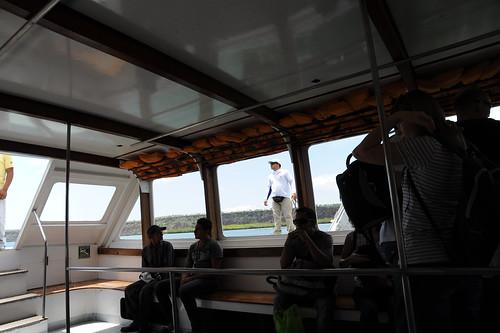 イタバカ海峡を船で渡る