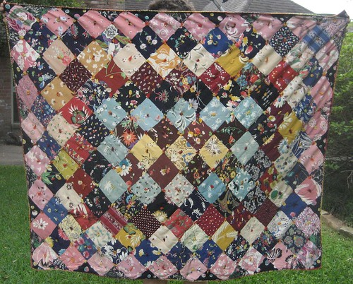 vintage rayon quilt