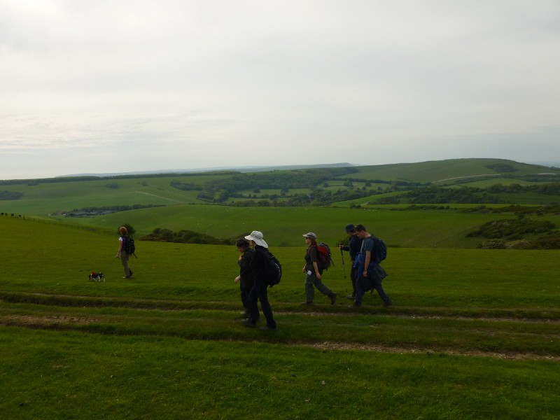 The ridge to Friston Berwick to Birling Gap walk
