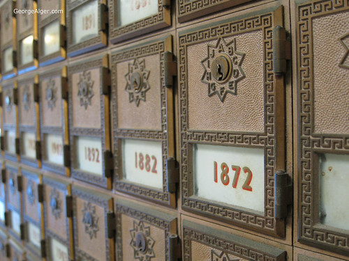 Antique Mailboxes, by George Alger