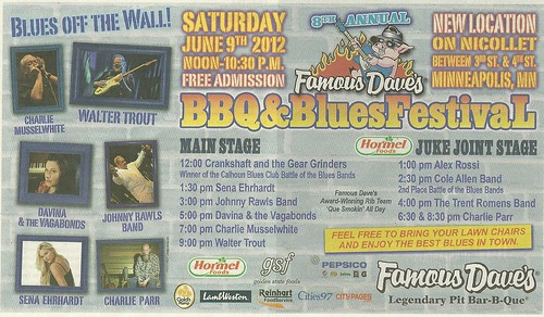 06-09-12 8th Annual Famous Daves BBQ & Blues Festival @ Nicollet Avenue (bet. 3rd & 4th Streets), Minneapolis, MN