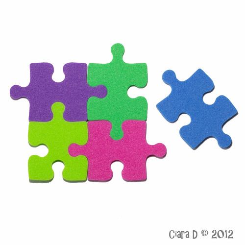project365 canon 600d jigsaw white crafts felt