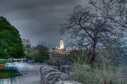 Downtown Niagara Falls Ontario at Night