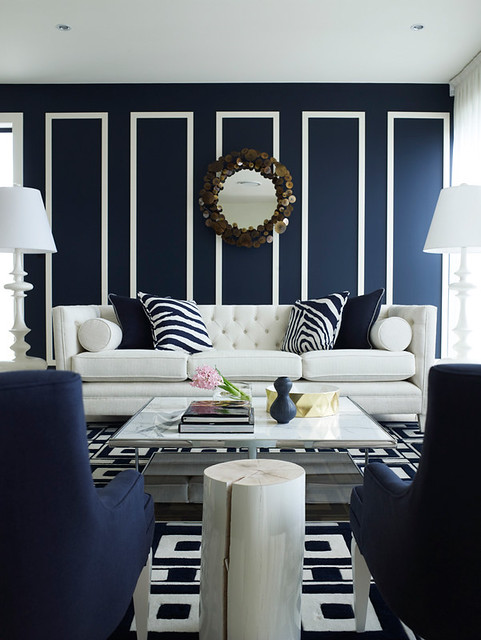 10 navy rooms to inspire you to pick up the paintbrush photos huffpost - Dining barokke ...