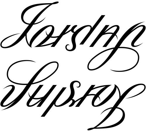 "Jordan"" & ""Susan"" Ambigram   Flickr - Photo Sharing!"