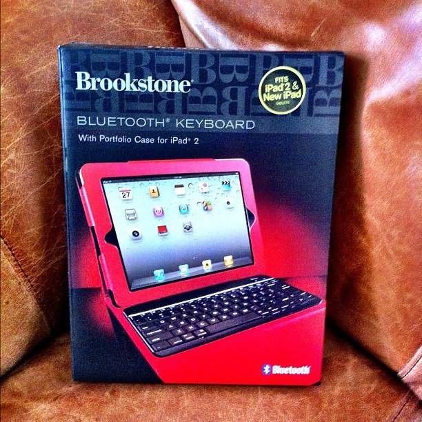 Yippee, the family got me the @Brookstone iPad case that I wanted for Mother's Day. Angry Kid said he picked out red, because it means love. #mothersday