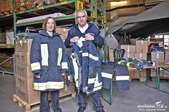 Übergabe neue Feuerschutzbekleidung 2012