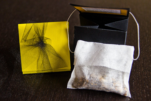 Black and Gold Teabag Favors from Tupelo Honey Teas