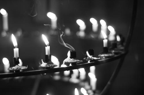 [フリー画像素材] バックグラウンド, 火・炎, ろうそく・キャンドル, モノクロ ID:201205231200