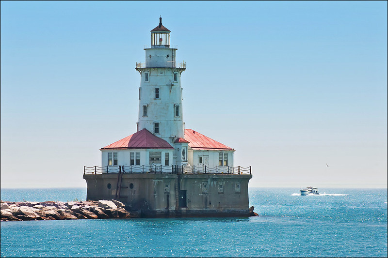Morning View of the Chicago Harbor Light