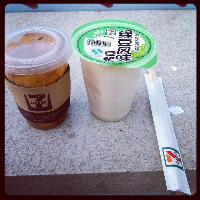 綠豆豆漿+關東煮 @ 7-11