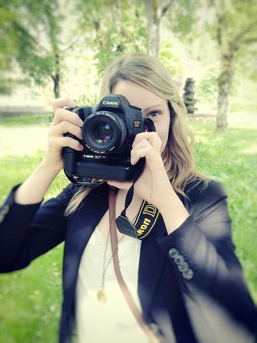 Andrea with my camera