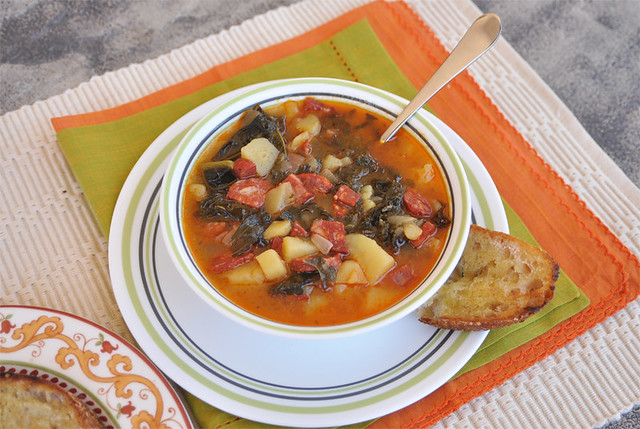 Kale Soup with Potato and Chorizo