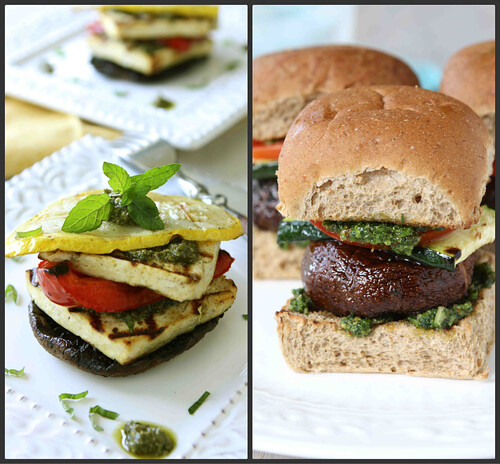 Canuck's Grilled Tofu Stacks with Pesto & Grilled Vegetables