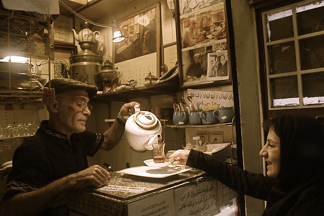 Tehran Bazar, Traditional Cafe   بازار تهران, قهوه خانه ی حاج علی درویش