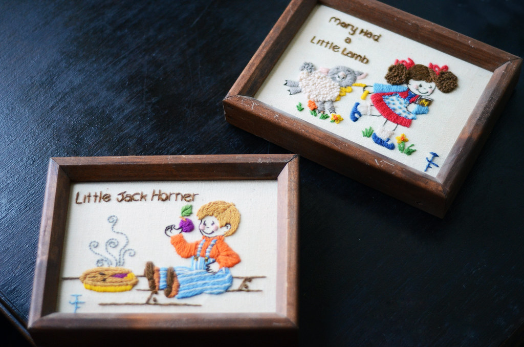 Vintage Crewel Embroidery-Children's Nursery Rhymes