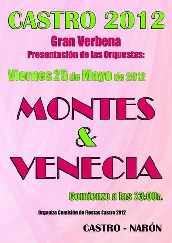 Narón 2012 - Presentación de orquestras en Castro - cartel