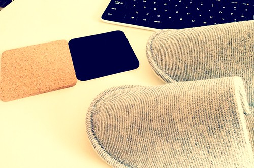 coaster & slippers by cinz