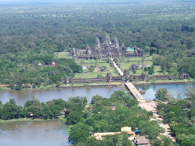 Angkor Wat aerial view