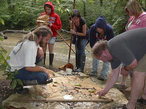 Water quality is monitored by volunteers with the Monday Creek Restoration Project. MCRP photo.