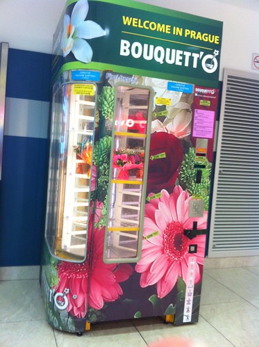 You can buy flowers at the Prague airport.
