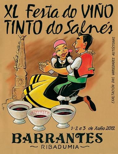 Ribadumia 2012 - XL Festa do Viño Tinto do Salnés en Barrantes - cartel