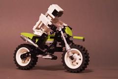 Big Dirt Bike & Posable Miniland Rider
