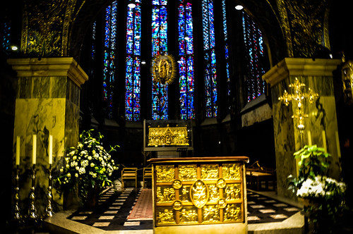 Choir hall in the Aachen Cathedral (Aachener Dom) Aachen Germany