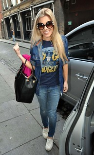 Mollie King Denim Shirt Celebrity Style Woman's Fashion
