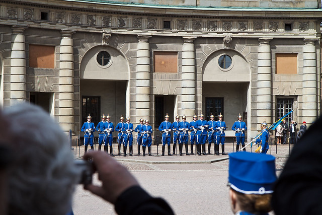 Stockholm. Royal palace guard