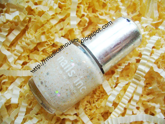 white gold glitter franken bottle