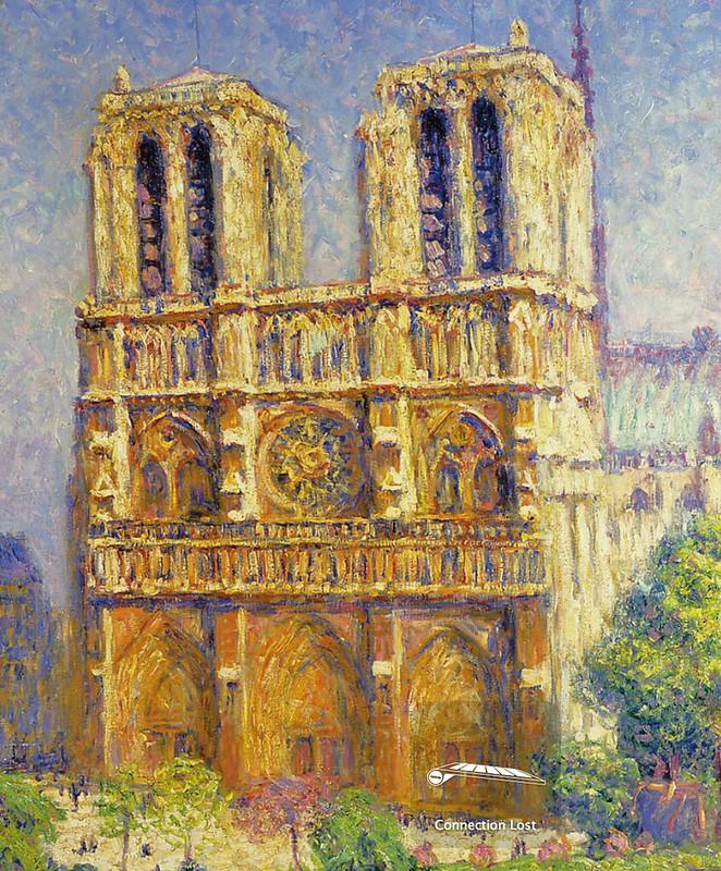 [ P ] Francis Picabia - Notre Dame, le matin (1906) - Detail