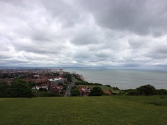 View down to Eastbourne