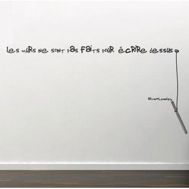 Sticker design d coration murale phrase mur flickr - Peinture pour ecrire sur les murs ...