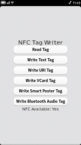 NFC Tag Writer