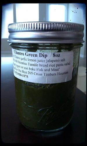Cilantro green dip